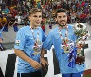 Steaua Bucharest wins Romania's League Cup Stock Images