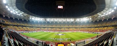 Steaua - football stadium, ready for Champions League Royalty Free Stock Image