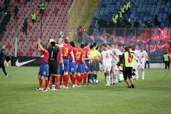 Steaua Squad. Steaua Bucharest - Dinamo Bucharest match, 2009 Stock Images