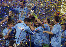 Steaua wins the Romanian League Cup Royalty Free Stock Photo