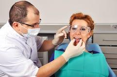 Stecca dentaria fotografie stock