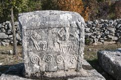 Stechak medieval tombstone in Bosnia and Croatia. Stechak a medieval tombstone in Bosnia and Croatia that was placed under UNESCO protection Royalty Free Stock Photos