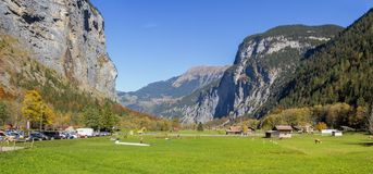 Lauterbrunnen Valley, Berner Oberland, Switzerland. Royalty Free Stock Image