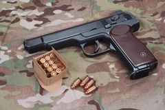 Stechkin automatisk pistol APS Arkivbild