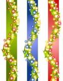 Stechpalme-Weihnachtsleuchte-Ränder Stockbild