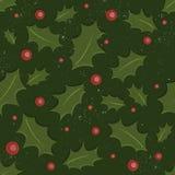 Stechpalme-Weihnachtsmuster Lizenzfreie Stockfotos