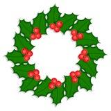 Stechpalme Wreath #1 Lizenzfreie Stockbilder