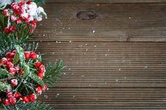 Stechpalmeblätter und -beeren Stockbilder