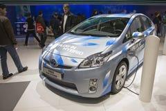 Steckverbindung-Mischling Toyota-Prius lizenzfreie stockfotos