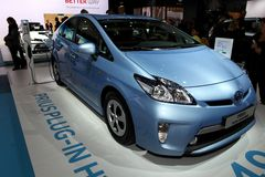 Steckverbindung-Mischling Toyota-Prius lizenzfreies stockfoto