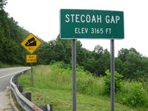Stecoah Gap and Steep Grade Royalty Free Stock Images