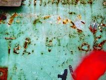STEDELIJK ABSTRACT DICHT OMHOOGGAAND WEERGEVEN IN FLENSBURG/GERMANY stock fotografie