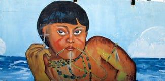 Stedelijk art Inheems meisje royalty-vrije stock afbeelding
