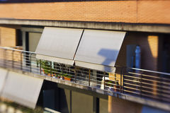 Stedelijk balkon Stock Afbeelding