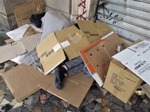 Stedelijk bederf in Rome stock foto