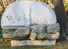 Stedelijk Beeldhouwwerk in het kustpark van Burgas, Bulgarije Stock Foto