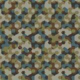 Stedelijk camouflage geometrisch hexagon naadloos patroon vector illustratie