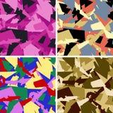 Stedelijk camouflagepatroon stock illustratie