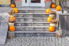 Stedelijk Decor voor Halloween Stock Foto