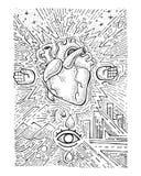 Stedelijk elektrisch hart royalty-vrije illustratie