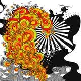Stedelijk geluid. Het abstracte thema van de partijtijd. Stock Foto