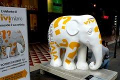Stedelijk Landschap Artistieke olifant in centrum van Milaan (Milaan) Royalty-vrije Stock Foto