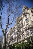 Stedelijk landschap in Barcelona stock foto's