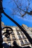 Stedelijk landschap in Barcelona stock afbeelding