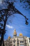Stedelijk landschap in Barcelona royalty-vrije stock foto's