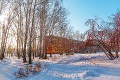 Stedelijk Landschap Berdsk, het gebied van Novosibirsk, Rusland Royalty-vrije Stock Foto's