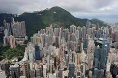 Stedelijk Landschap in Hongkong Royalty-vrije Stock Foto's
