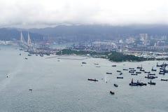 Stedelijk Landschap in Hongkong Royalty-vrije Stock Afbeeldingen
