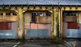 Stedelijk landschap van bederf.   stock afbeeldingen