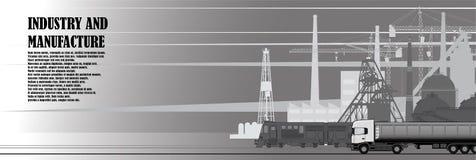 Stedelijk landschap van industriële infrastructuur stock illustratie