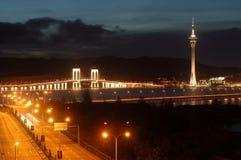 Stedelijk landschap van Macao Royalty-vrije Stock Afbeeldingen