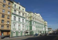 Stedelijk landschap van Moskou, het Hoofdhuis P van het stadsherenhuis I Demidov - A B Kurakin Royalty-vrije Stock Fotografie