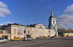 Stedelijk landschap van Moskou, Yauzskaya-straat Stock Afbeelding