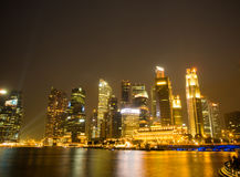 Stedelijk landschap van Singapore Royalty-vrije Stock Foto's