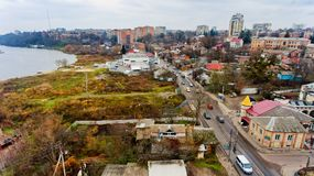 Stedelijk landschap Vinnytsia, de Oekraïne Stock Foto's