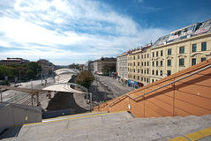 Stedelijk-Loritz-Platz, Wien Royalty-vrije Stock Foto's