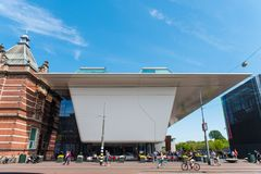 Stedelijk Museum Amsterdam. The Stedelijk Museum Amsterdam, colloquially known as the Stedelijk, is a museum for modern art, contemporary art, and design located stock photo