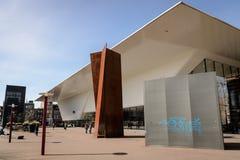 Stedelijk museum i Amsterdam Nederländerna Mars 2015 arkivfoton