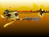 Stedelijk muziekframe stock illustratie