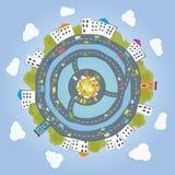 Stedelijke aarde royalty-vrije illustratie