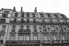 Stedelijke architectuur in het centrum, Parijs, Frankrijk royalty-vrije stock foto
