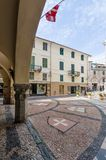 Stedelijke architectuur van Noli Savona stock fotografie