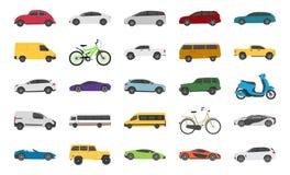 Stedelijke Auto Vlakke Pictogrammen vector illustratie