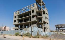 Stedelijke bouwwerf, die het hart van hoofdstad inbouwen royalty-vrije stock foto's