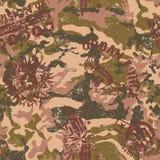 Stedelijke camouflage met militaire kentekens Stock Foto's