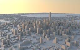 Stedelijke cityscapes Royalty-vrije Stock Afbeelding